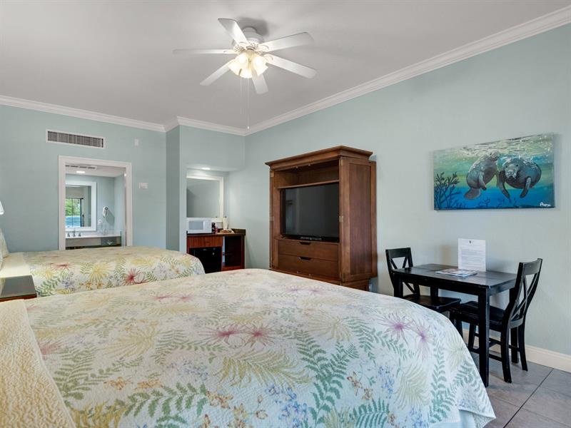 2 Queen Room with Kitchenette and Flat Screen TV